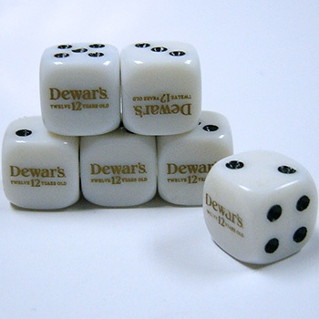 Custom engraved dice