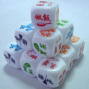 Custom silk printed dice